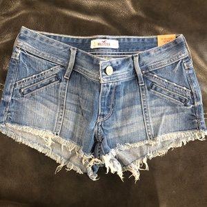 Hollister Medium Wash Jean Shorts
